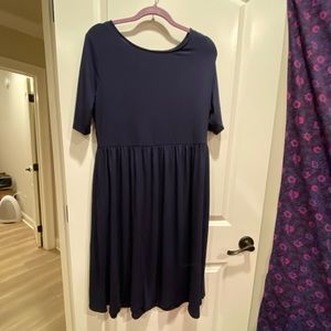 navy shift dress with pockets NWOT